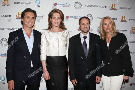 Lawrence Bender (Producer), Queen Noor of Jordan, Jeff Skoll (Exec. Producer) and Valerie Plame Wilson