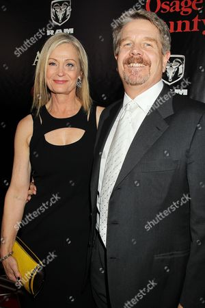 Stock Picture of John Wells (Director) with wife Marilyn Wells