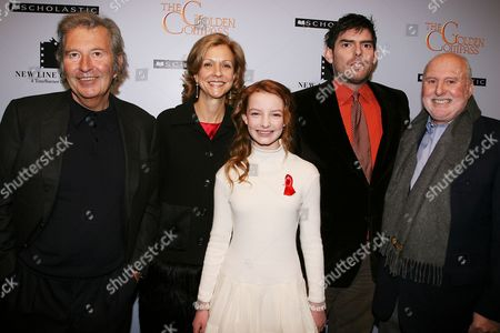 Bob Shay, Deborah Forte, Dakota Blue Richards, Chris Weitz and Michael Lynne