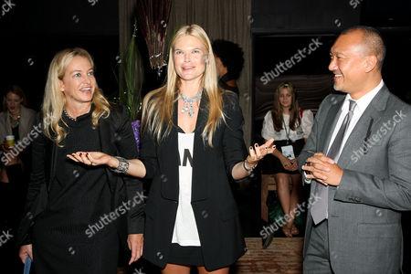 Fashion Director of Elle Anne Slowey, American Express host Kate Schelter and Creative Director of Elle Joe Zee