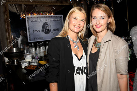 Stock Photo of American Express host Kate Schelter and Lisa Salzer of Lulu Frost