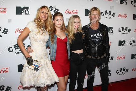 Susan Holmes, Mae McKagan, Grace McKagan, and Duff McKagan