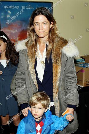 Vanessa von Bismarck with son