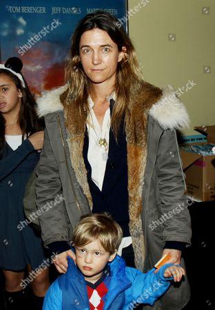 Stock Picture of Vanessa von Bismarck with son