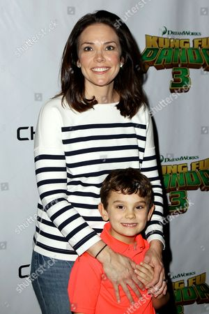 Erica Hill with son