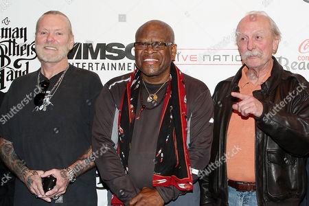 Stock Picture of Gregg Allman, Jai Johanny Johanson and Butch Trucks (The Allman Brothers Band)