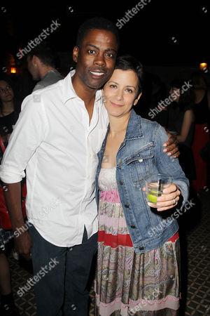 Stock Photo of Chris Rock and Anna D Shapiro (Director)