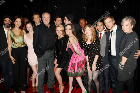 Stock Picture of Wes Craven and wife Iya Labunka (Producer) with cast