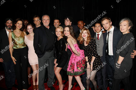 Wes Craven and wife Iya Labunka (Producer) with cast
