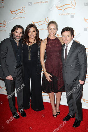 John Cusimano, Rachael Ray, Tracy Pollan and Michael J Fox