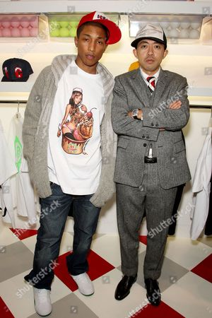 Pharrell Williams (co-owner) and Nigo (co-owner)