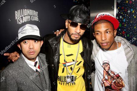 Nigo (co-owner), Swizz Beatz and Pharrell Williams (co-owner)