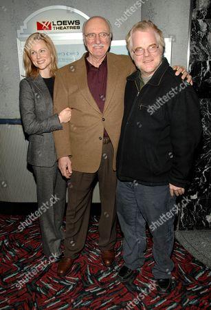 Laura Linney, Philip Bosco and Philip Seymour Hoffman