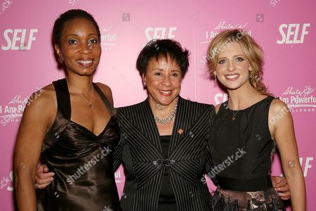 Dr. Helene Gayle (Pres. and CEO CARE), Sheila Johnson (CEO Of Salamander Hospitality) and Sarah Michelle Gellar