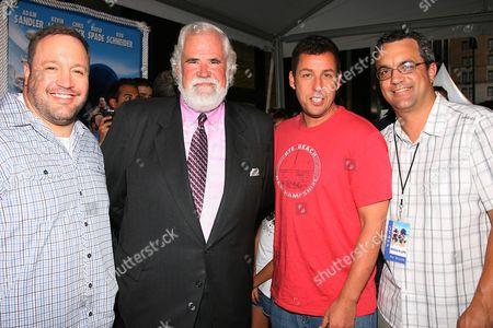Kevin James, Jeff Blake, Adam Sandler and Jack Giarraputo