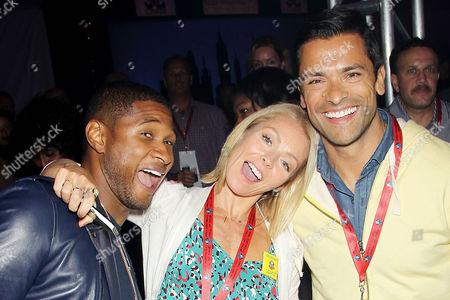 Usher, Kelly Ripa and Mark Consuelos