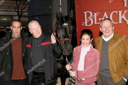 Author Steve Farlas, Producer Fred Roos, Black Stallion, actress Biana Tamimi, Director Simon Wincer
