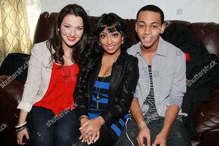 Annie Clark, Melinda Shankar and Jahmil French