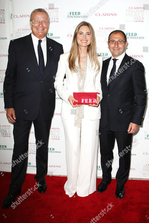 Christian Courtin-Clarins, Lauren Bush and Jonathan Zrihe