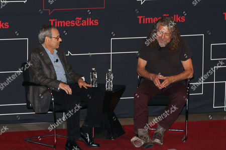 Stock Photo of Jon Pareles and Robert Plant