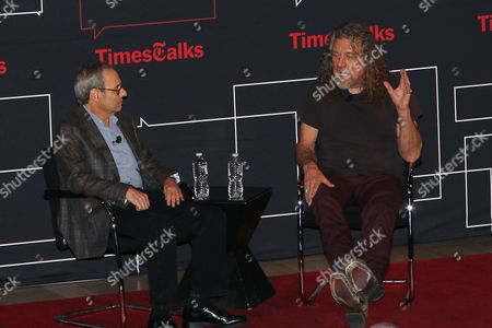 Editorial picture of Robert Plant joins TimesTalks, New York, America - 10 Oct 2014