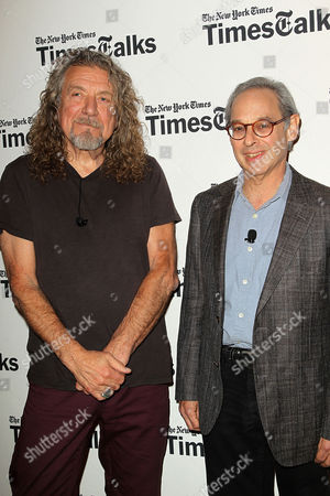 Stock Picture of Robert Plant and Jon Pareles