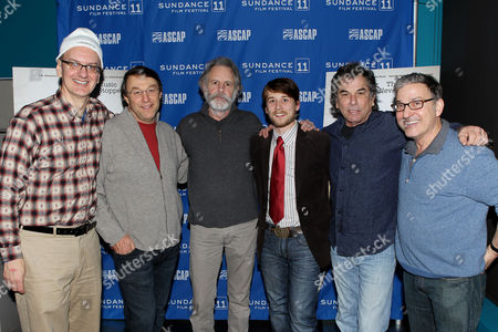 Stock Picture of Greg Johnson, Jim Kohlberg (Director), Bob Weir, Lou Taylor Pucci, Mickey Hart, Peter Newman