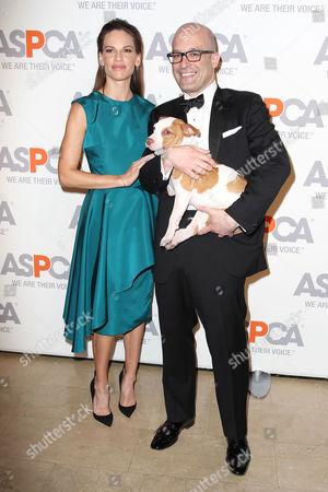 Hilary Swank and Matthew Bershadker (Pres & CEO; ASPCA)