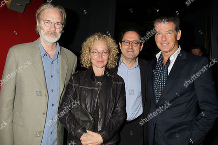 Kenneth Bowser, Amy Irving, Michael Barker and Pierce Brosnan