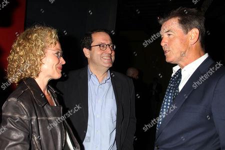 Amy Irving, Michael Barker and Pierce Brosnan