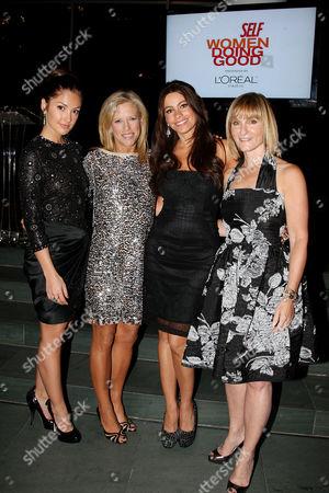 Minka Kelly, Lucy Danziger) , Sofia Vergara and Laura McEwen (VP and Publisher of SELF Magazine)