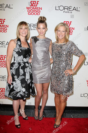 Laura McEwen (VP and Publisher of SELF Magazine), AnnaLynne McCord and Lucy Danziger