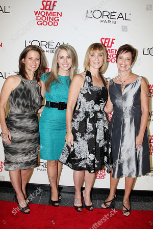 JJ Ramberg (Founder of GoodSearch.com) and Haley Kilpatrick (Founder of Girl Talk), Laura McEwen (VP and Publisher of SELF Magazine), Lisa Scarpinato (Founder of Kitchen on the Atreet)