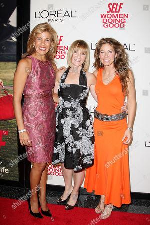 Hoda Kotb, Laura McEwen (VP and Publisher of SELF Magazine) and Dylan Lauren