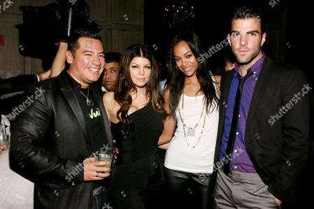 Estelle, Sean Patterson (President Wilhelmina Model), Stacey 'Fergie' Ferguson, Zoe Saldana, Zachary Quinto