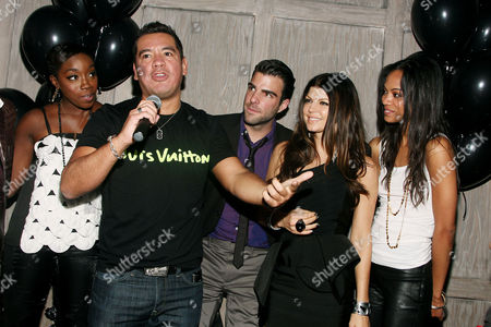 Estelle, Sean Patterson (President Wilhelmina Model), Zachary Quinto, Stacey 'Fergie' Ferguson and Zoe Saldana