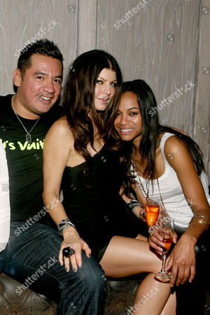 Sean Patterson (President Wilhelmina Model), Stacey 'Fergie' Ferguson, Zoe Saldana