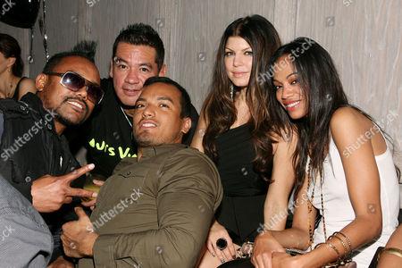 Taboo, Sean Patterson (President Wilhelmina Model), Stacey 'Fergie' Ferguson, Zoe Saldana