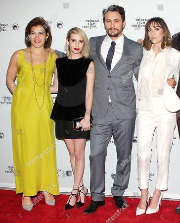Stock Picture of Genna Terranova, Emma Roberts, James Franco and Gia Coppola