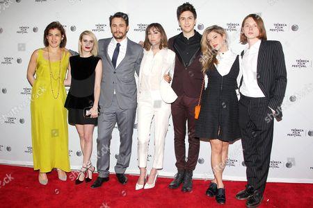 Genna Terranova, Emma Roberts, James Franco, Gia Coppola, Jack Kilmer, Nat Wolff and Zoe Levin.
