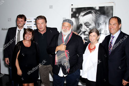 David Nugent, Karen Arikian, Alec Baldwin,Bruce Weber,Nan Bush and Stuart Suna