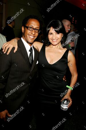 Andre Royo and Katherine Narducci