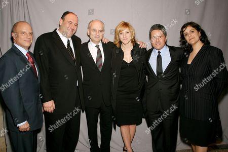 Chris Albrecht (CEO HBO), James Gandolfini, David Chase (Creator), Edie Falco, Brad Grey (Exec Producer) and Ilene Landress (Exec Producer)