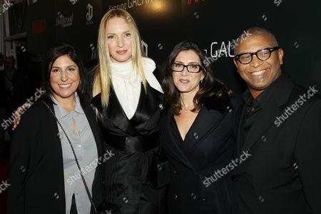 Stock Picture of Pilar Savone, Uma Thurman, Stacey Sher and Reggie Hudlin