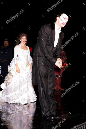 Curtain call for 7,486th performance of 'Phantom' - Sandra Joseph and Howard McGillin