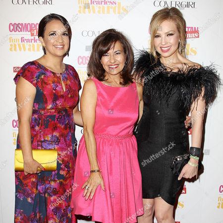 Michelle Herrera Mulligan, Donna Kalajian Lagani and Thalia