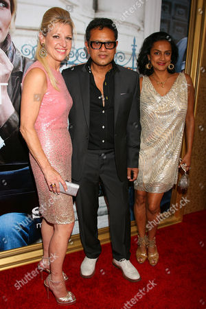 Stock Photo of Mindy Grossman (CEO HSN), Naeem Khan and wife Ranjana Khan