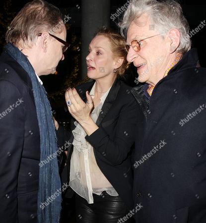 Stellan Skarsgard, Uma Thurman and Robert Thurman