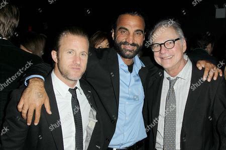 Stock Image of Scott Caan, Mustafa Haidari and Barry Levinson (Director)