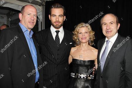 Stock Image of Rob Moore, Chris Pine, Debra Dauman and Philippe Dauman